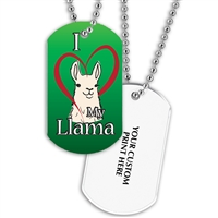 Full Color Dog Tags w/ Fair Stock Designs & Print on Back