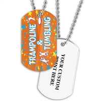 Full Color Dog Tags w/ Gymnastics Stock Designs & Print on Back
