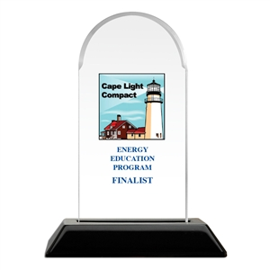 Full Color Acrylic Trophy - Arch