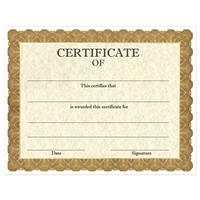 "Full Color ""Classic Gold"" Stock Certificates"