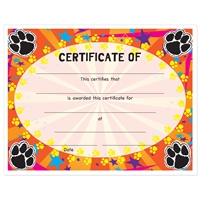 "Full Color ""Paws"" Stock Certificates"