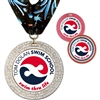 "2-3/4"" GEM Full Color Medal w/ Stock Millennium Neck Ribbon"