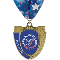 "2-3/4"" MS14 Full Color Medal w/ Stock Millennium Neck Ribbon"