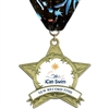 "3-3/8"" AS14 Full Color Medal w/ Stock Millennium Neck Ribbon"