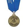 "2"" HG Medal w/ Solid Color Satin Neck Ribbon"