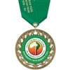 "2-3/4"" RS14 Full Color Medal w/ Solid Color Satin Neck Ribbon"