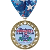 "2-3/4"" RS14 Full Color Medal w/ Stock Millennium Neck Ribbon"