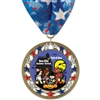 "2-3/4"" RSG Full Color Medal w/ Stock Millennium Neck Ribbon"