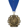 "2-1/4"" TS Medal w/ Grosgrain Neck Ribbon"