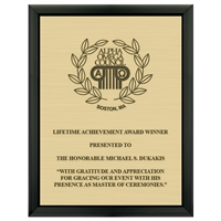 "7"" x 9"" Black Plaque w/ Engraved Plate"