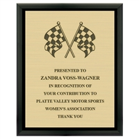 "8"" x 10"" Black Plaque w/ Engraved Plate"