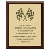 "8"" x 10"" Cherry Plaque w/ Engraved Plate"