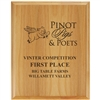 "6"" x 8"" Engraved Solid Red Alder Plaque"