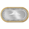 Oval Tray w/ Gold Border