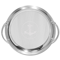 "14"" Round Tray with Handles"