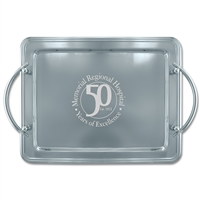 "14"" x 11"" Rectangular Tray w/ Handles"