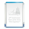 Blue Shimmer Acrylic Trophy