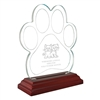 Engraved Small Paw Print Acrylic