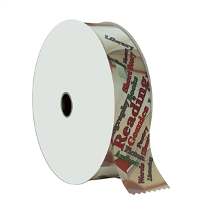 "2"" Wide Multicolor ""Reading"" Stock Ribbon Rolls - 100 yds."