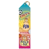 "2"" x 8"" Multicolor ""All Star"" Stock Point Top Ribbons"